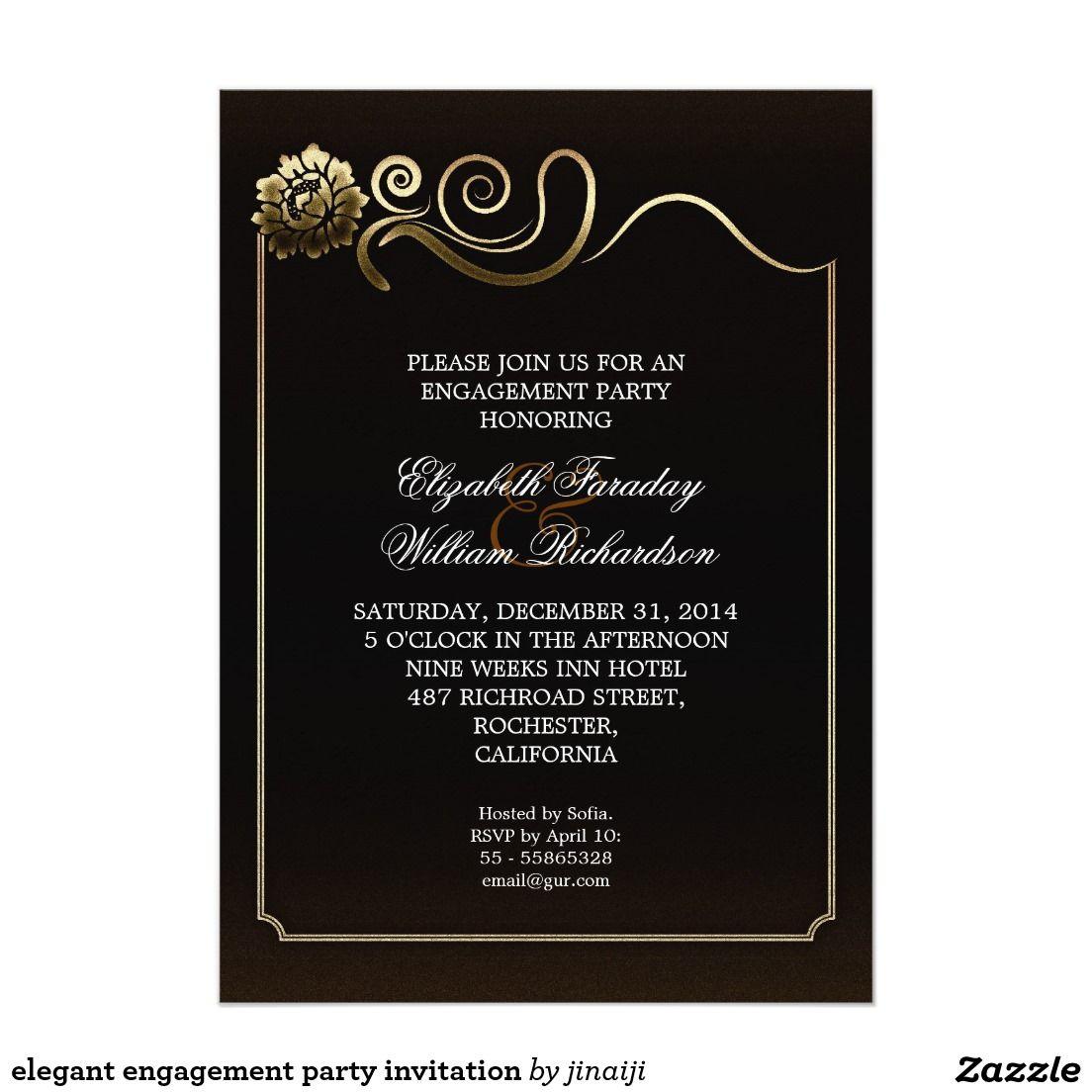 elegant engagement party invitation   Wedding :Engagement Party ...