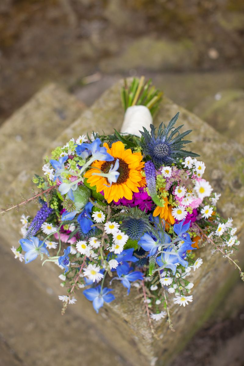Bright and cheerful Bride Bouquet. Flowers by www