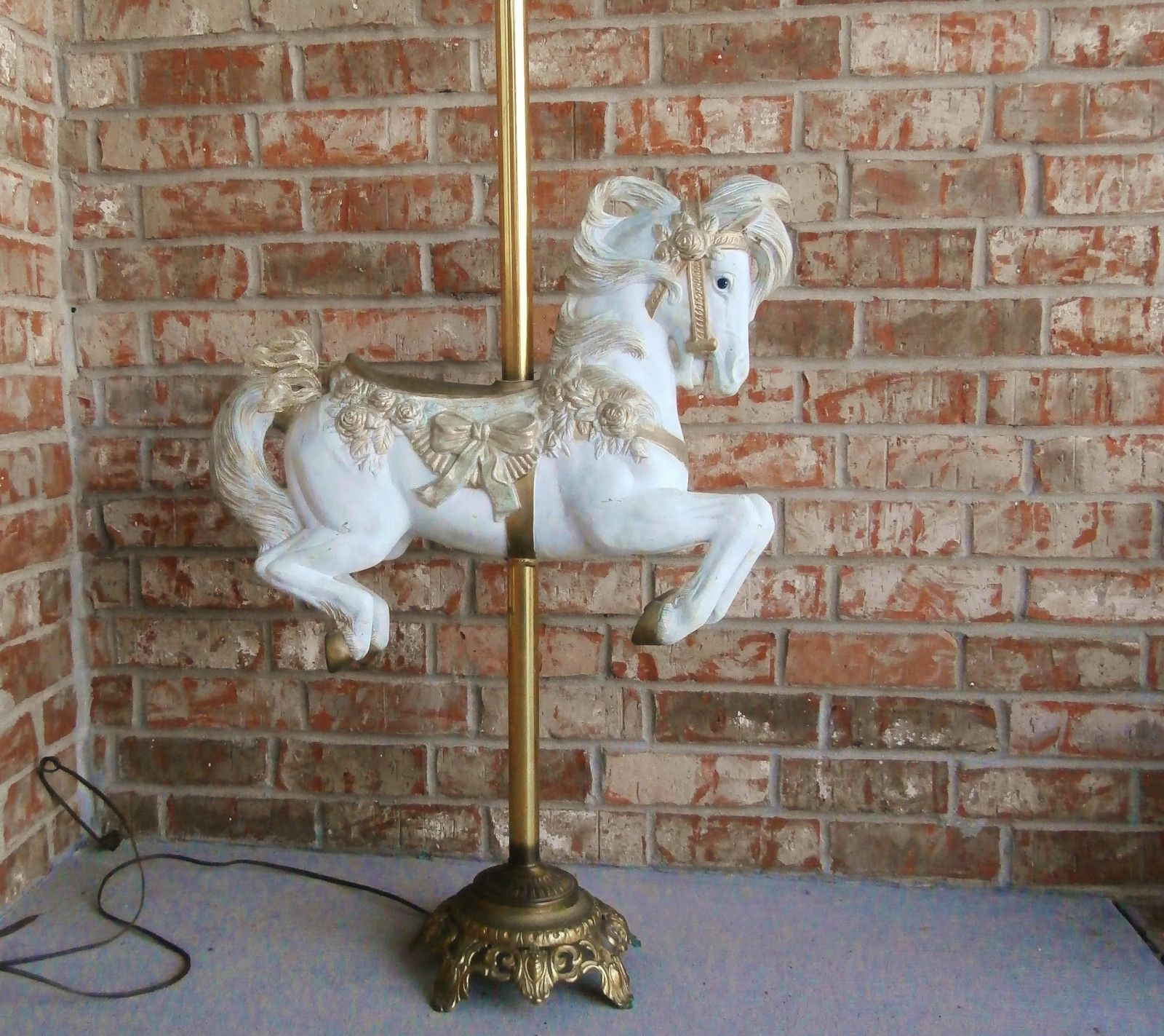 Carousel Floor Lamp - Stunning Antique Floor Lamp Huge Gilded Gilt Plaster Carousel