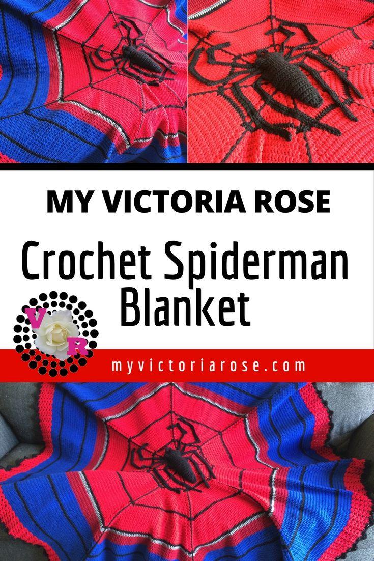 Spiderman | Spider-Man | Blanket | Crochet Pattern | Avengers ...