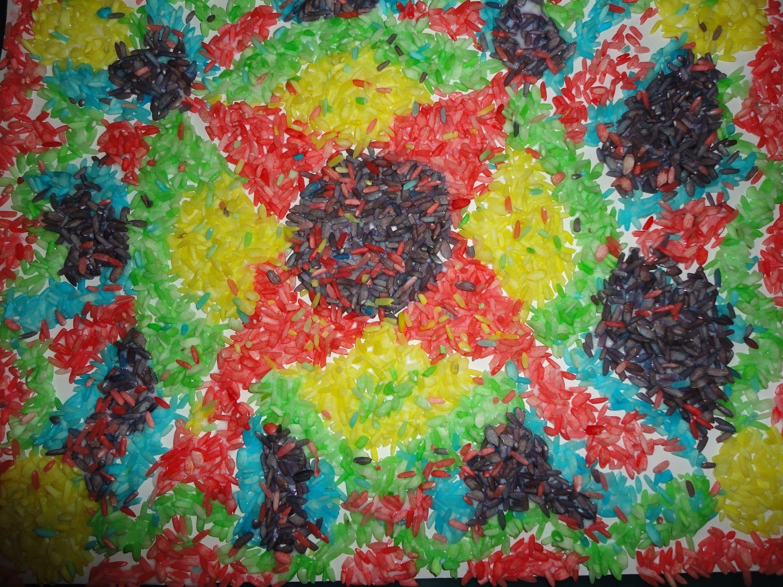 Mosaic Art Projects Art Project Colored Rice Mosaic