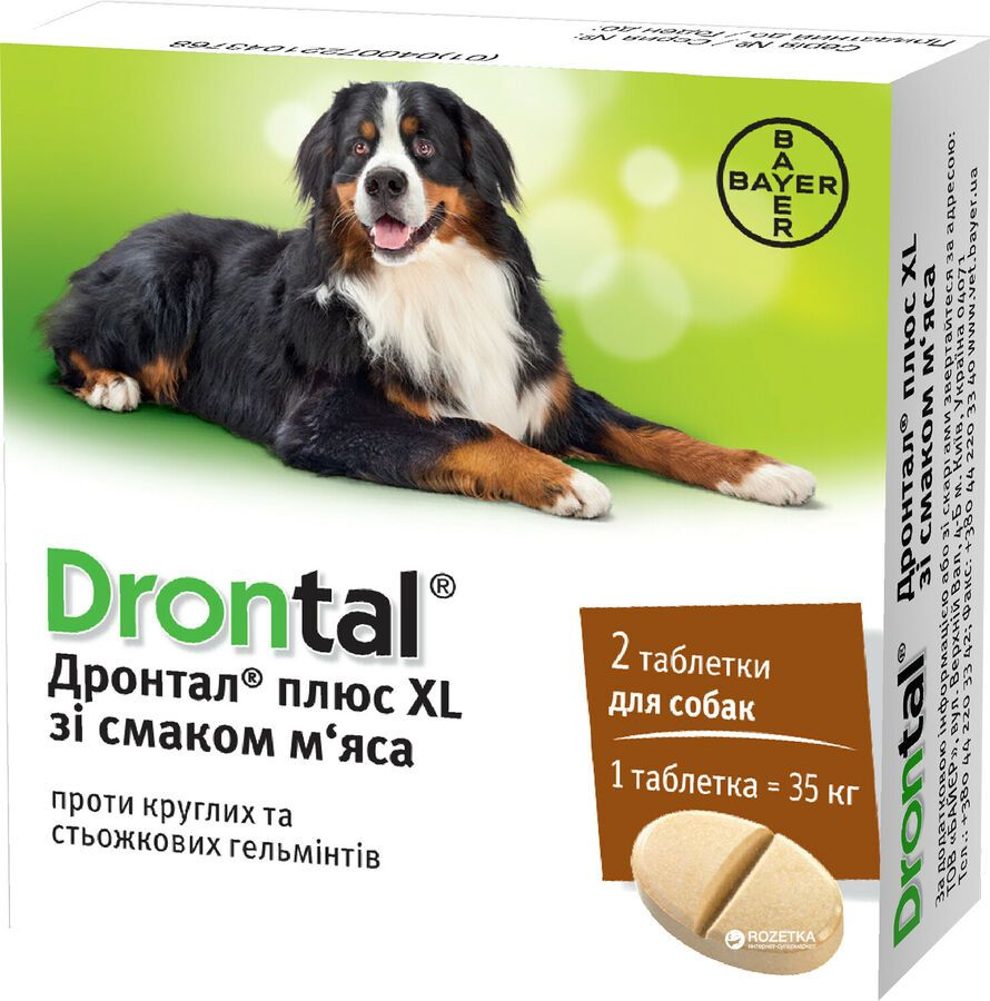 Drontal Plus Xl Wormer For Dogs 35kg 77lbs 2 Tablets Bayer Made In Germany 4007221043768 Ebay Ad Gt Kg Dogs Dogs Wormer Animals