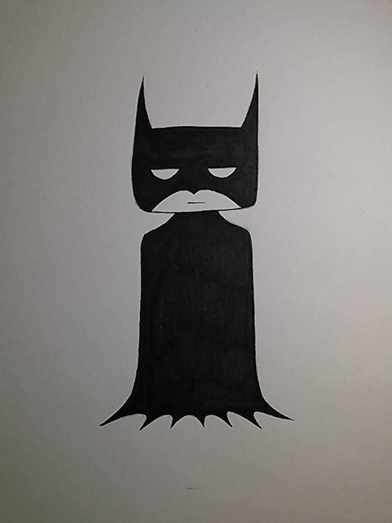 How To Draw A Quick And Easy Batman This Is A Simple Tutorial On How