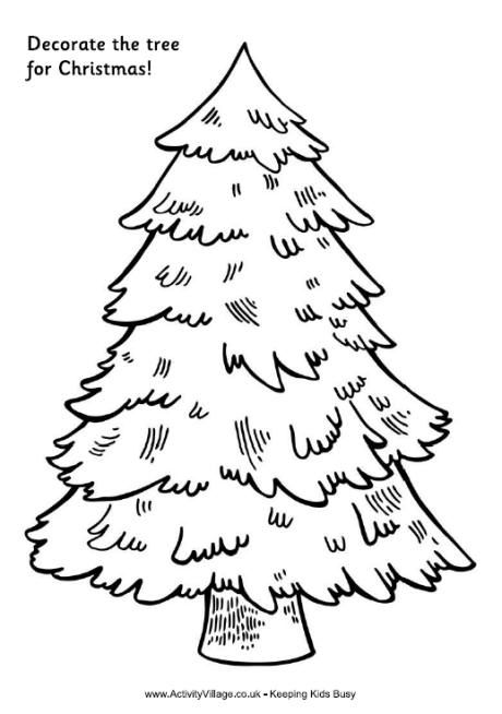Decorate The Tree For Christmas Tree Printable Christmas Tree Coloring Page Christmas Tree Template Christmas Tree Printable