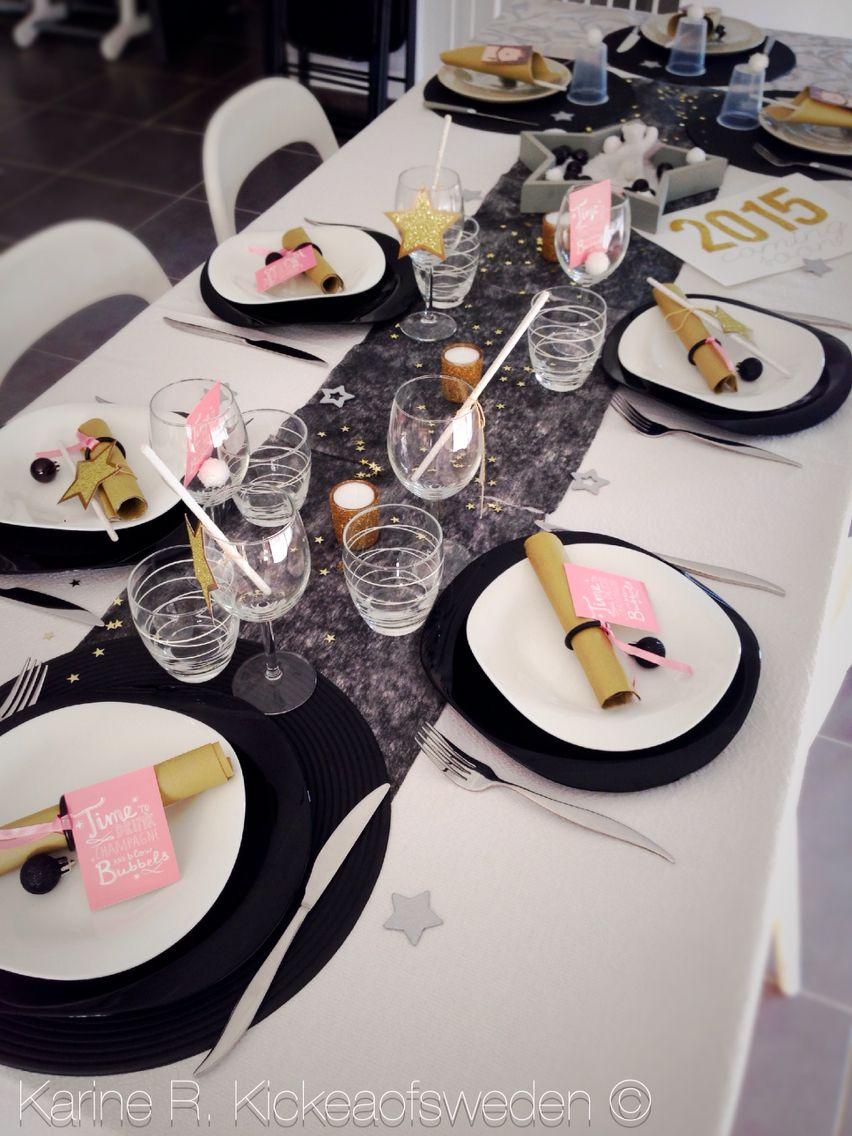 Réveillon de la Saint Sylvestre 2014 -> 2015 Table du Nouvel An   Deco nouvel an, Deco table