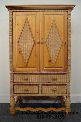 Best Lexington Furniture Henry Link Wicker 42 Armoire Ebay 640 x 480