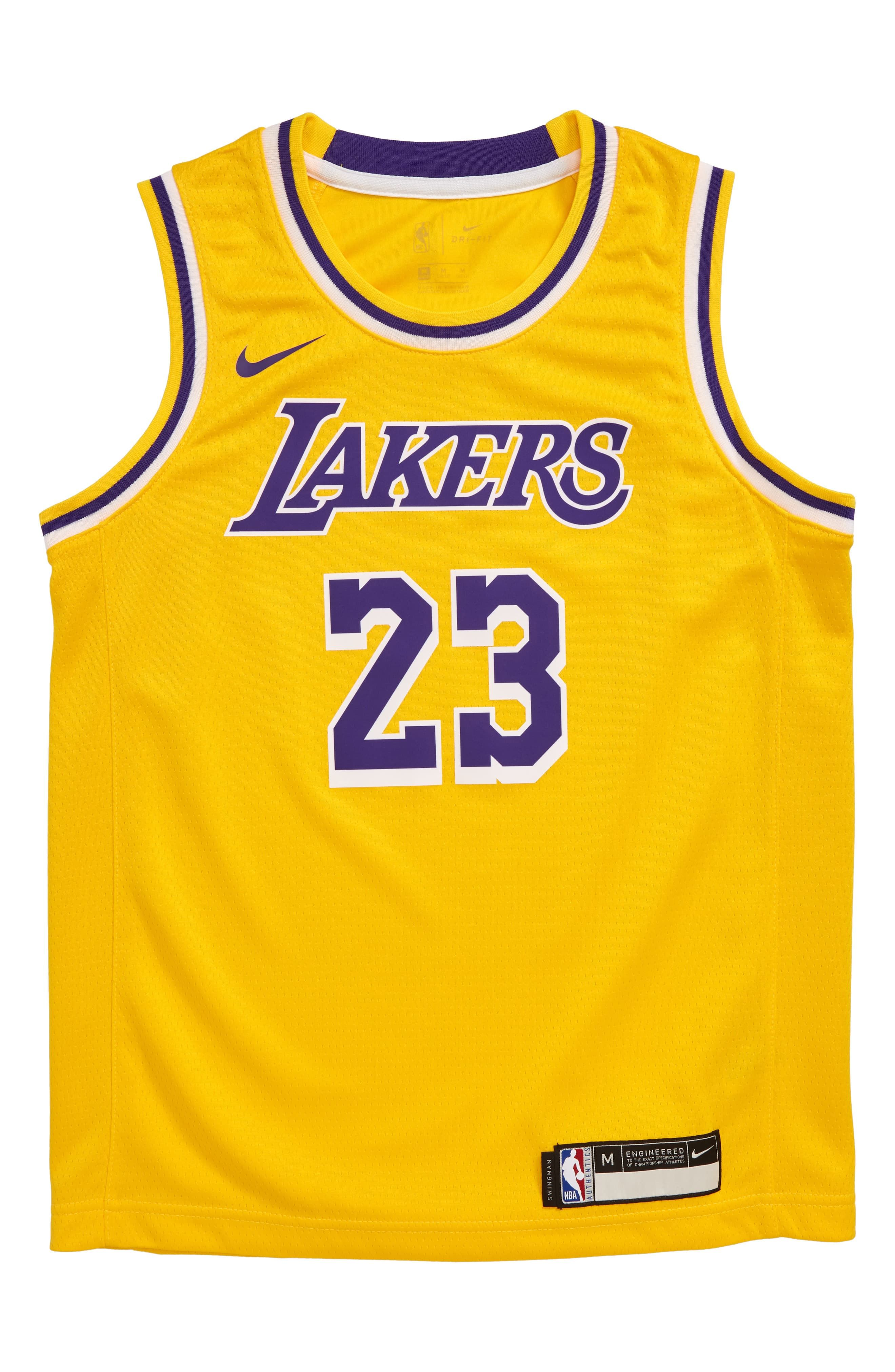 Nike NBA Los Angeles Lakers LeBron James Basketball Jersey (Big ...