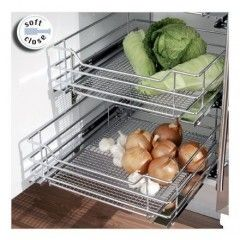 Pullout Baskets Helps Keep Vegetables In The Dark Wire Basket Storage Vegetable Storage Wire Storage