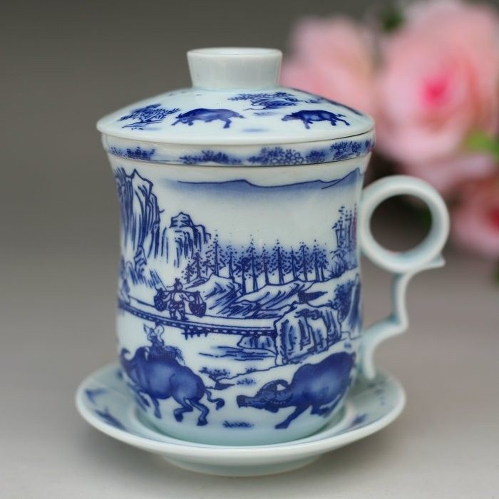 bone china cup with lids cups filter jingdezhen ceramic bone china teacup with lid office. Black Bedroom Furniture Sets. Home Design Ideas