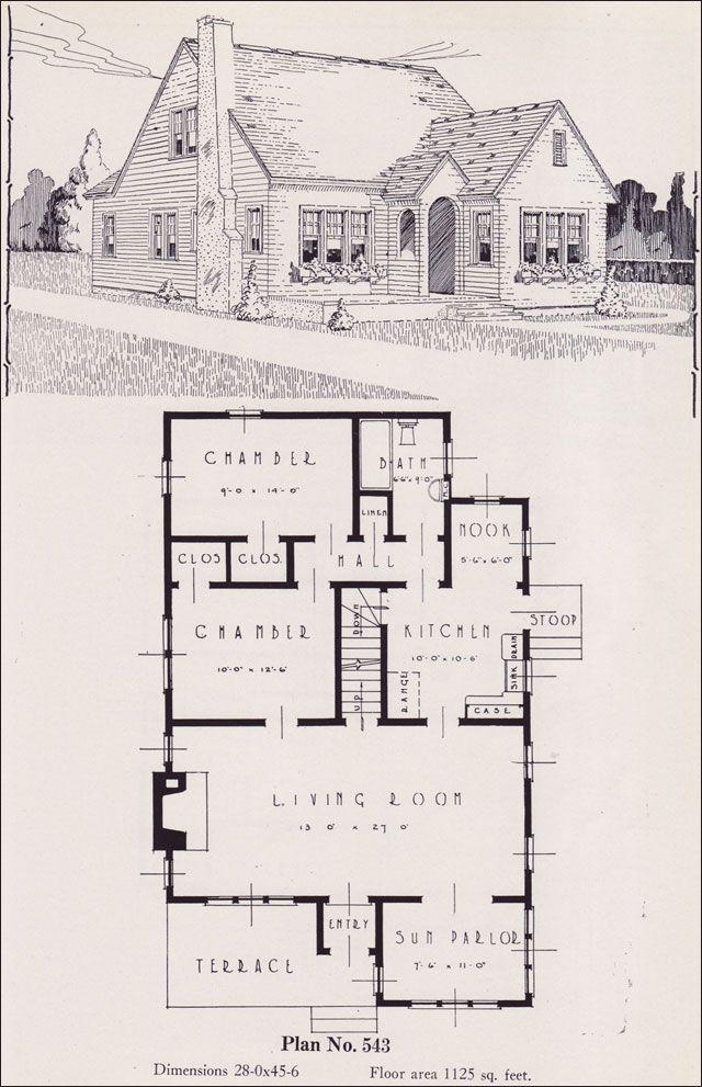 Design No. 543 1926 Portland Homes Plan Book by Universal Plan ...