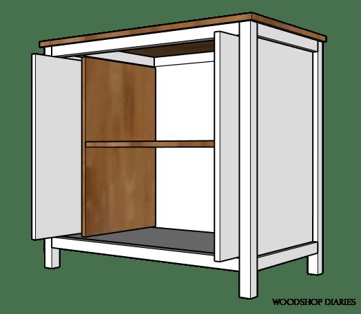 Pocket Door Cabinet Build--{Building Plans and Tut