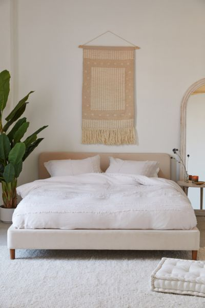 Urban Outfitters Riley Platform Bed Bed Frame Headboard Cool