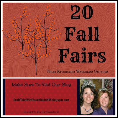 Stuff to do with your kids in Kitchener Waterloo: 20 Fall Fairs Near Kitchener Waterloo. Click the pic to find out about this year's fall fairs!