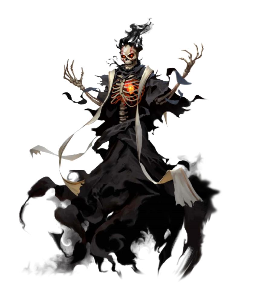 Lich Necromancer - Undead Wizard - Pathfinder PFRPG DND D&D