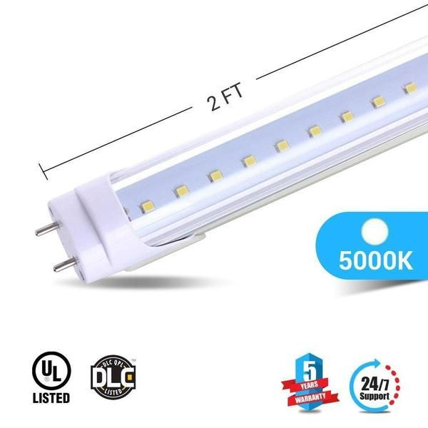 Best of Ballast patible T8 2ft LED Tube 8W 5000K Clear Fresh - Cool light ballast replacement Trending