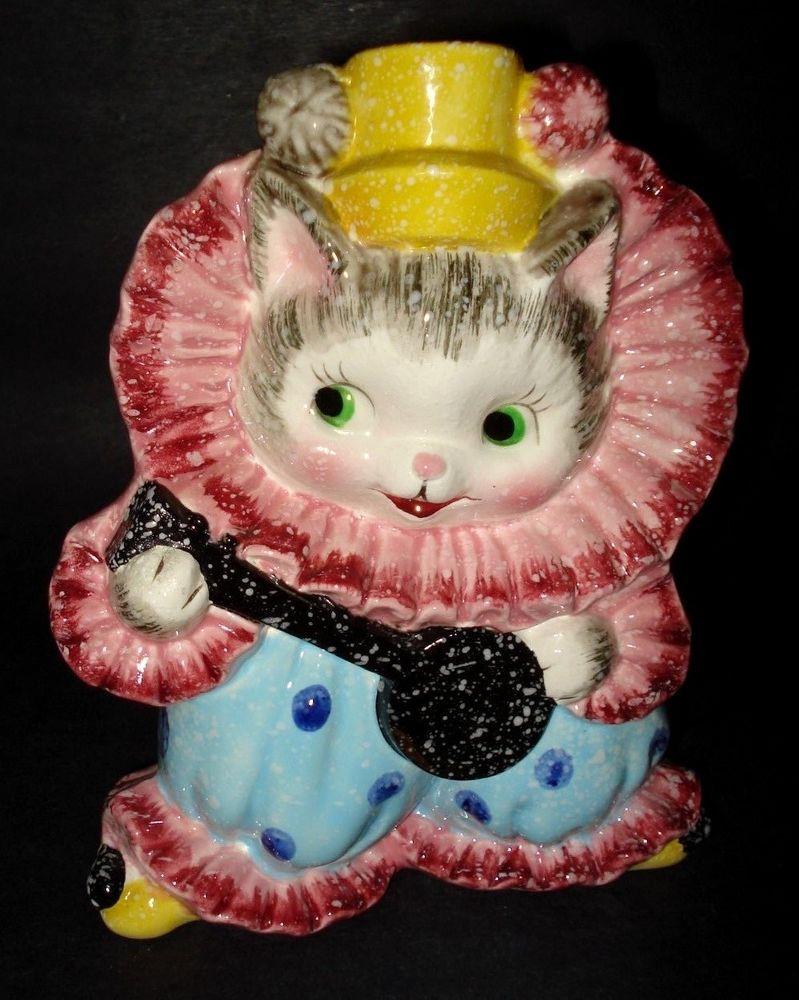 Vtg 1950s Relpo Japan Cat Kitten Clown Baby Nursery Ceramic Planter Vase Kh837 Relpo Cats And Kittens Kitten Vintage Cat
