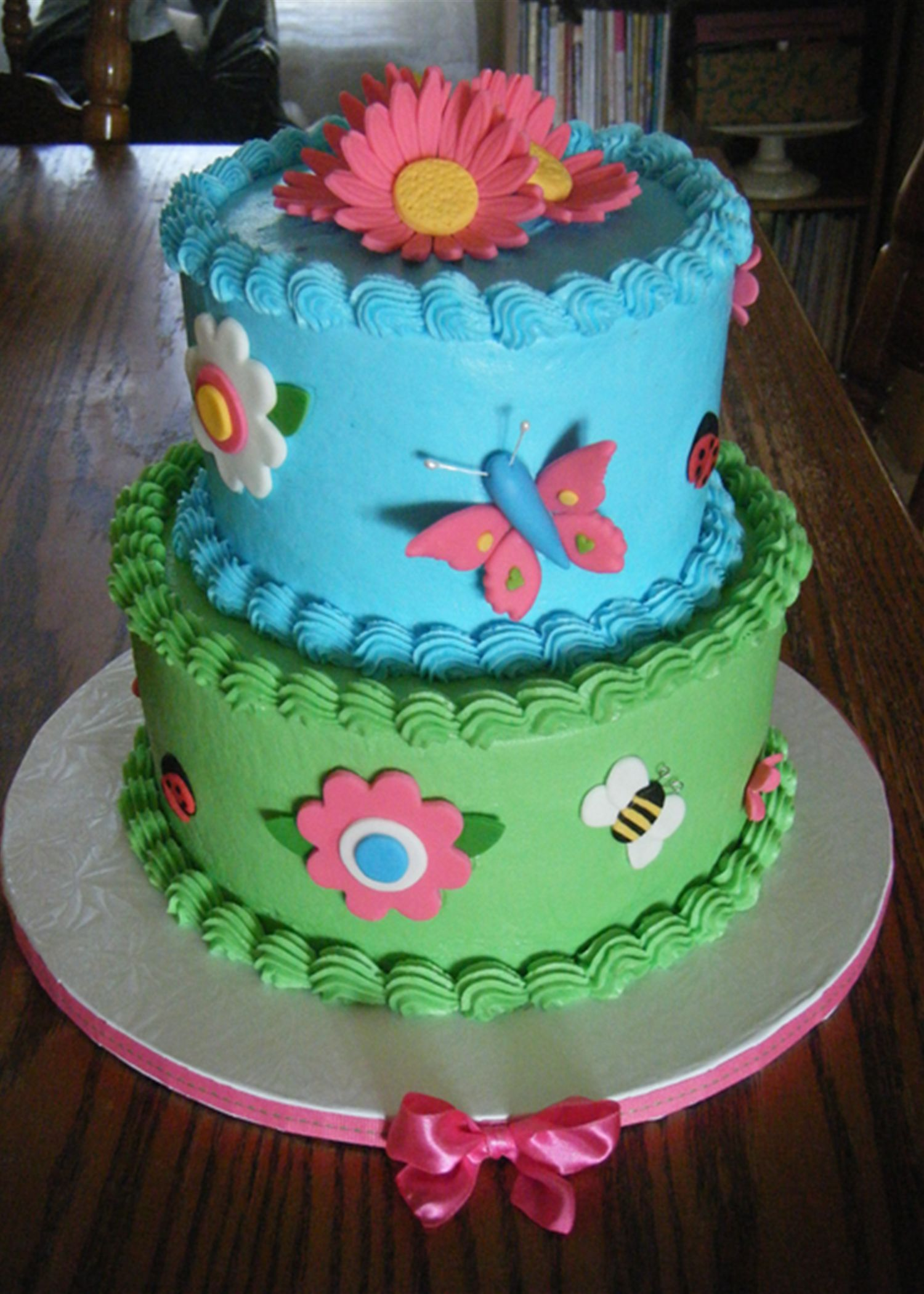 Butterfly Cupcake Theme Cake Childrens Birthday Cakes Baby