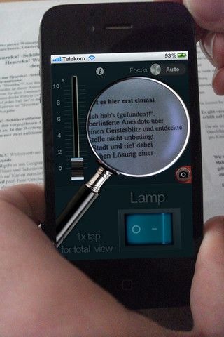Magnifier with light+zoom (0.99) Having trouble reading