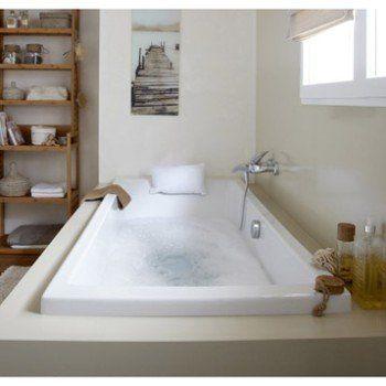 Baignoire rectangulaire L.180x l.80 cm blanc, SENSEA Premium design | Leroy Merlin
