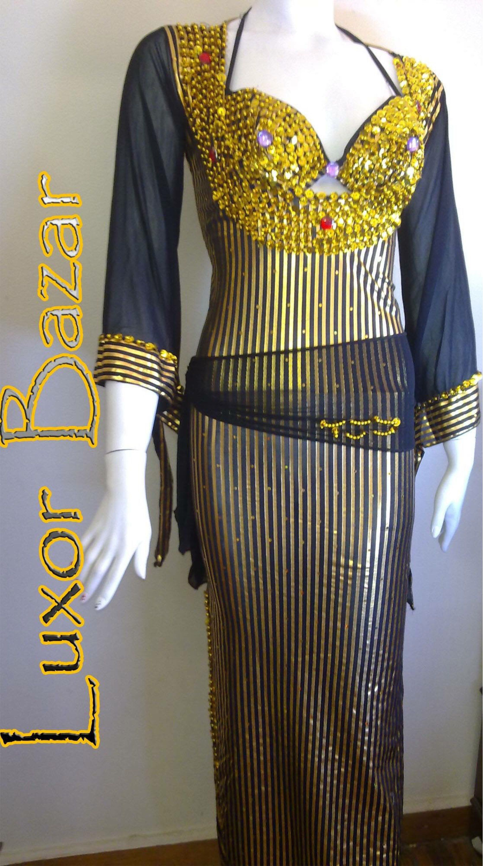 Oriental Egyptian Belly Dance Costume Saidi Dress Baladi Galabeya,Fallahi Abaya