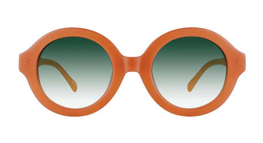 5196b5f842a Zenni Round Prescription Eyeglasses Orange Tortoiseshell Plastic ...