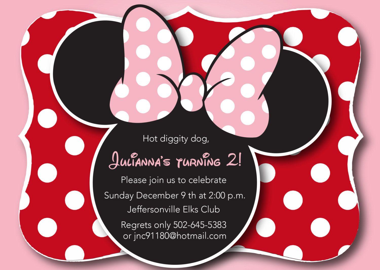 minnie mouse high resolution clipart | Cute Minnie Mouse Invitation ...