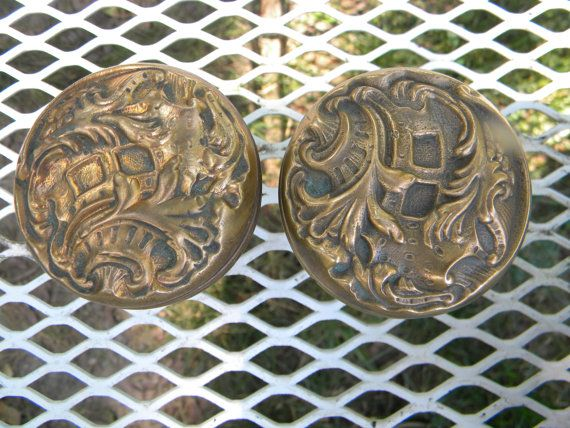 nice clean victorian art nouveau late 1800s early 1900s solid BRASS ...