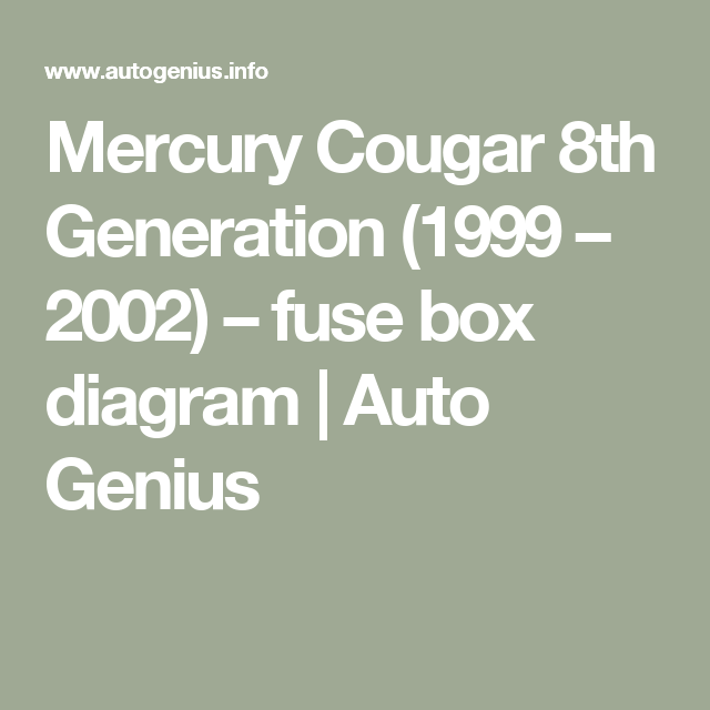 Pin On Mercury Cougar