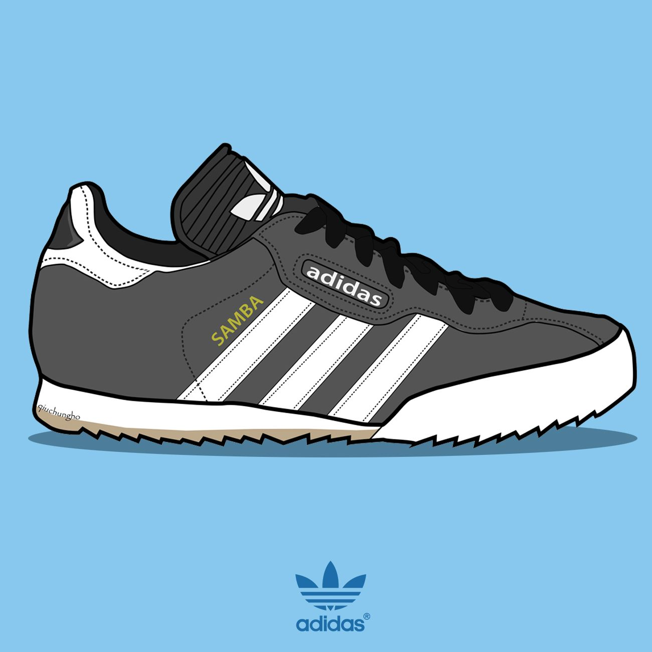 Adidas Originals Super Samba. Illustration by : @qiuchungho Find me on  Instagram.