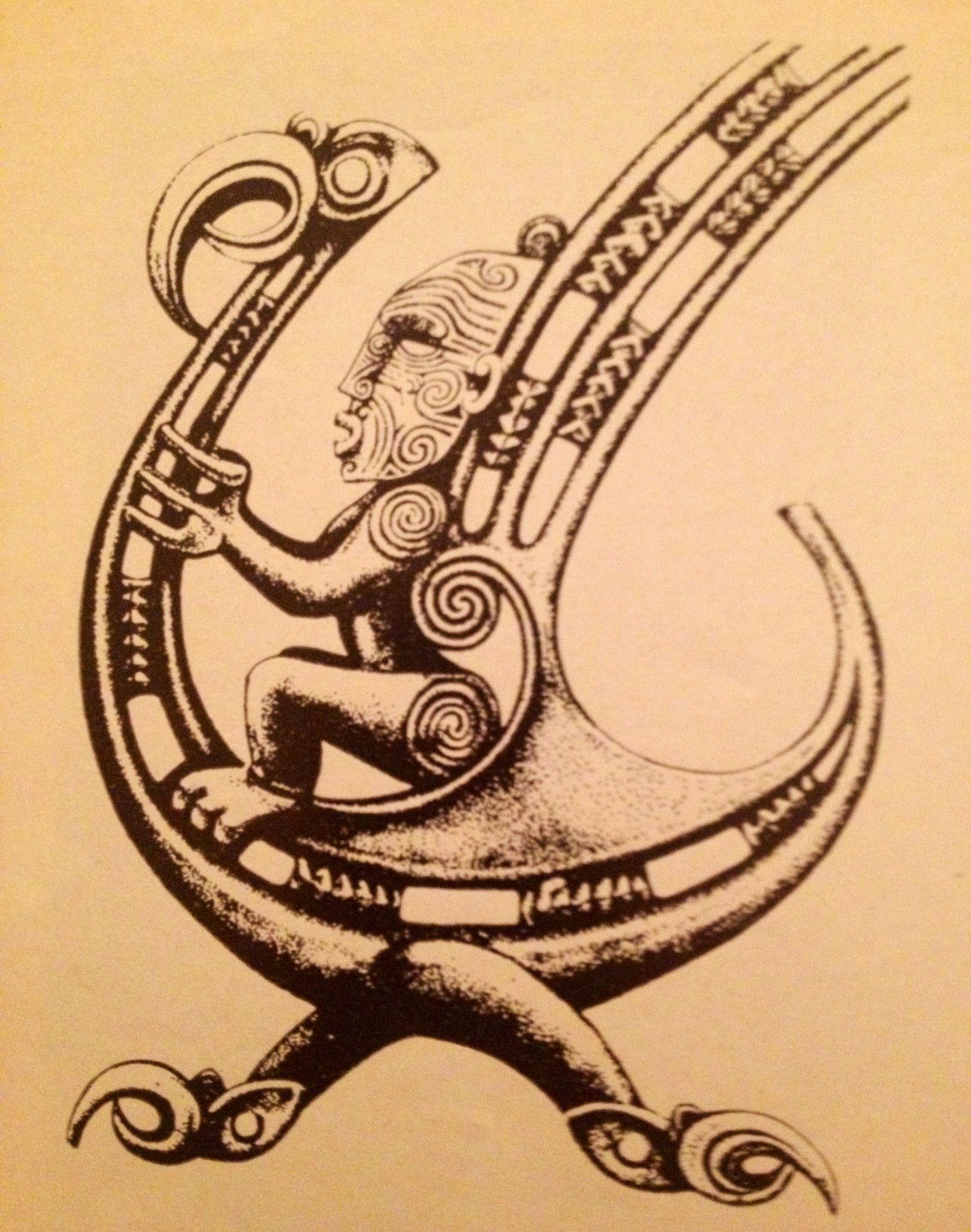 Maori God, In His Flying Magic Bird !