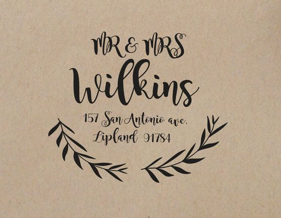 Wedding Stamp Custom By Weddingstampstudio