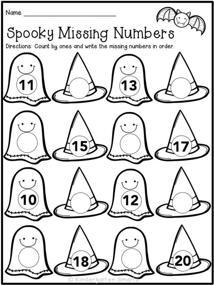 Halloween Activities for Kindergartners Halloween math