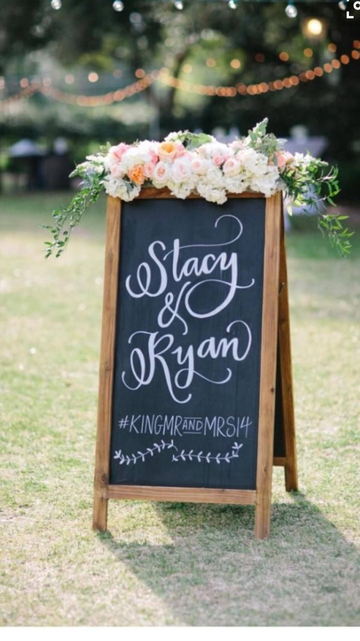 Contact us now for your custom chalkboard sign! https