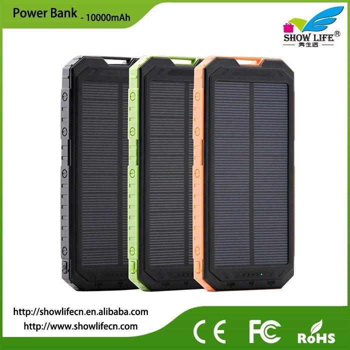 2017 Dual Usb Waterproof Solar Panel Power Bank 10000mah Rohs Custom Camping Light Mobile Charger Outdoor Led Charging Treasu Powerbank Camping Lights Dual Usb