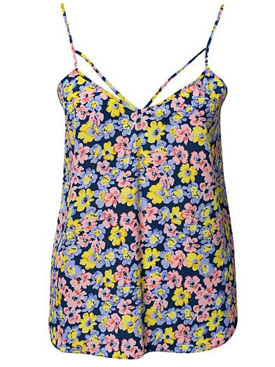 Sl Mya floral Cami Top - River Island - Blue Patterned - Tops - Clothing - Women - Nelly.com Uk