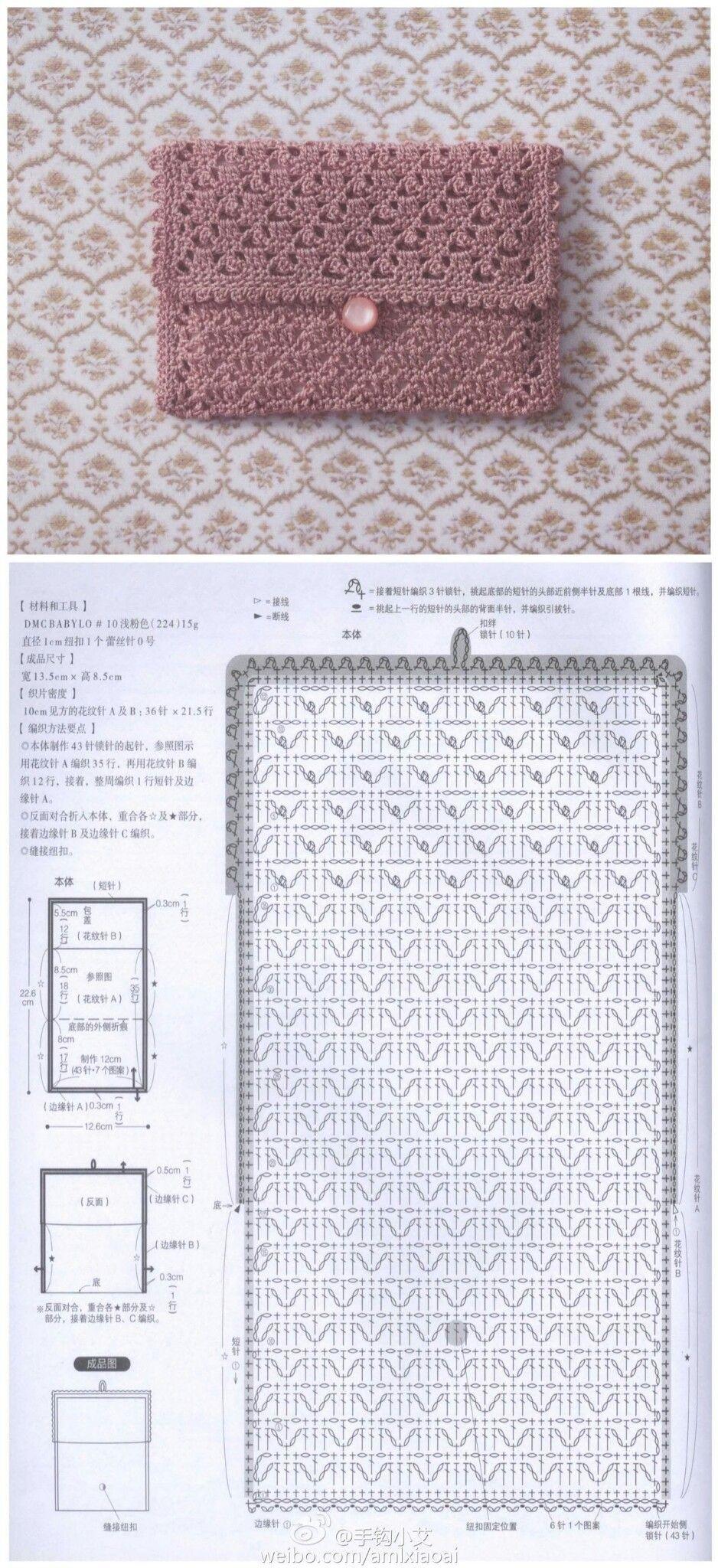 Pochette Alluncinetto In Cotone Traforata Pola Rajut Crochet