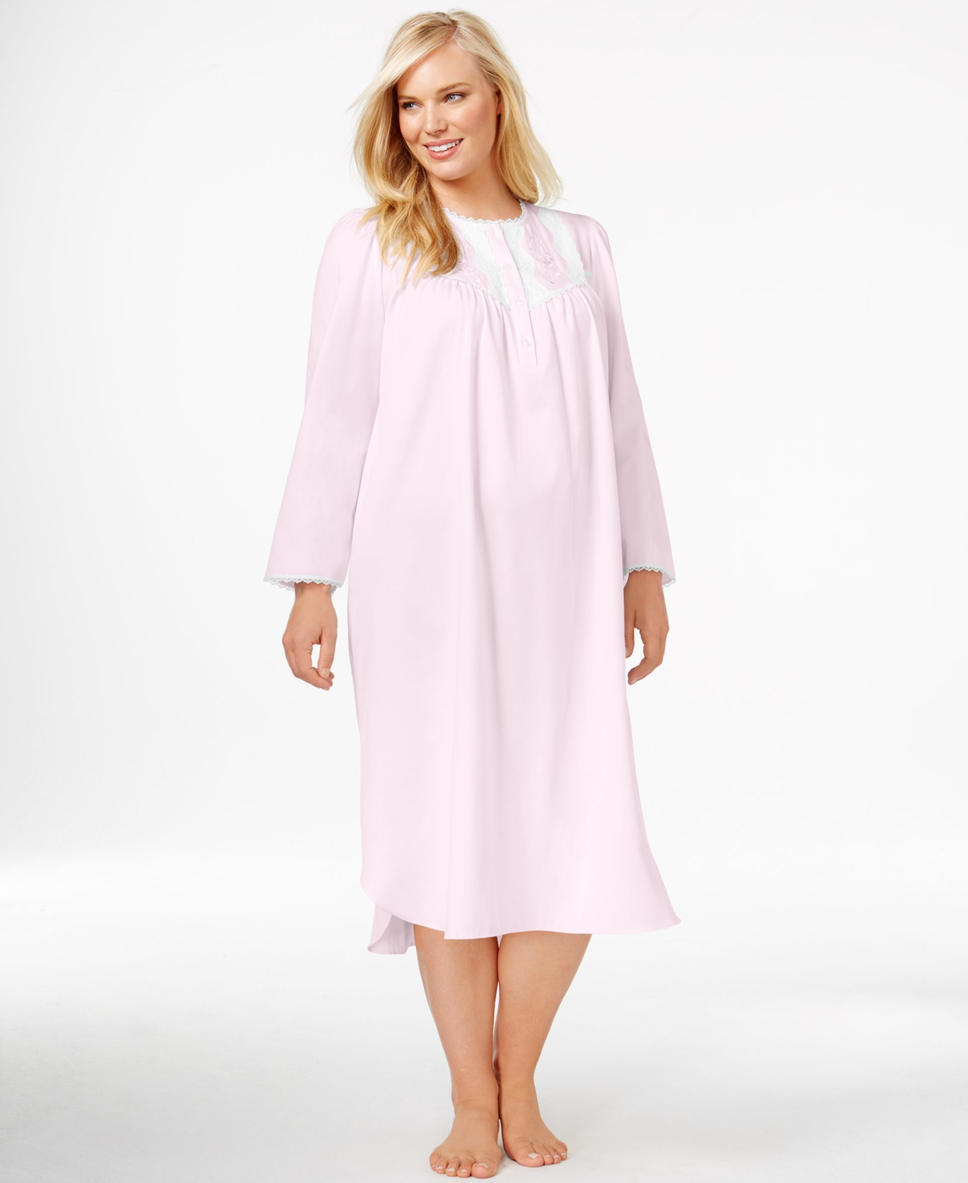 Miss Elaine Plus Size Satin Nightgown | Plus Size Nightgowns ...