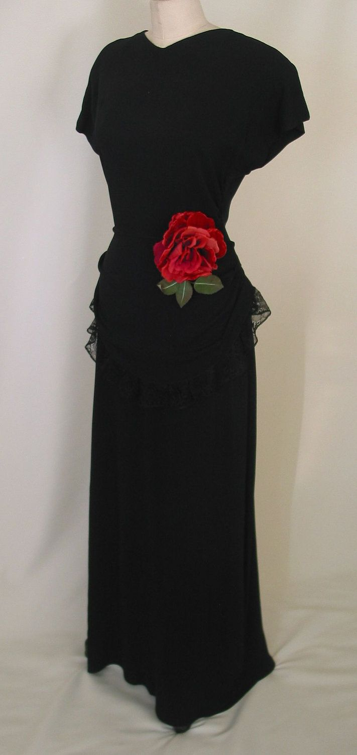 Vintage us evening gown gowns s fashion and peplum