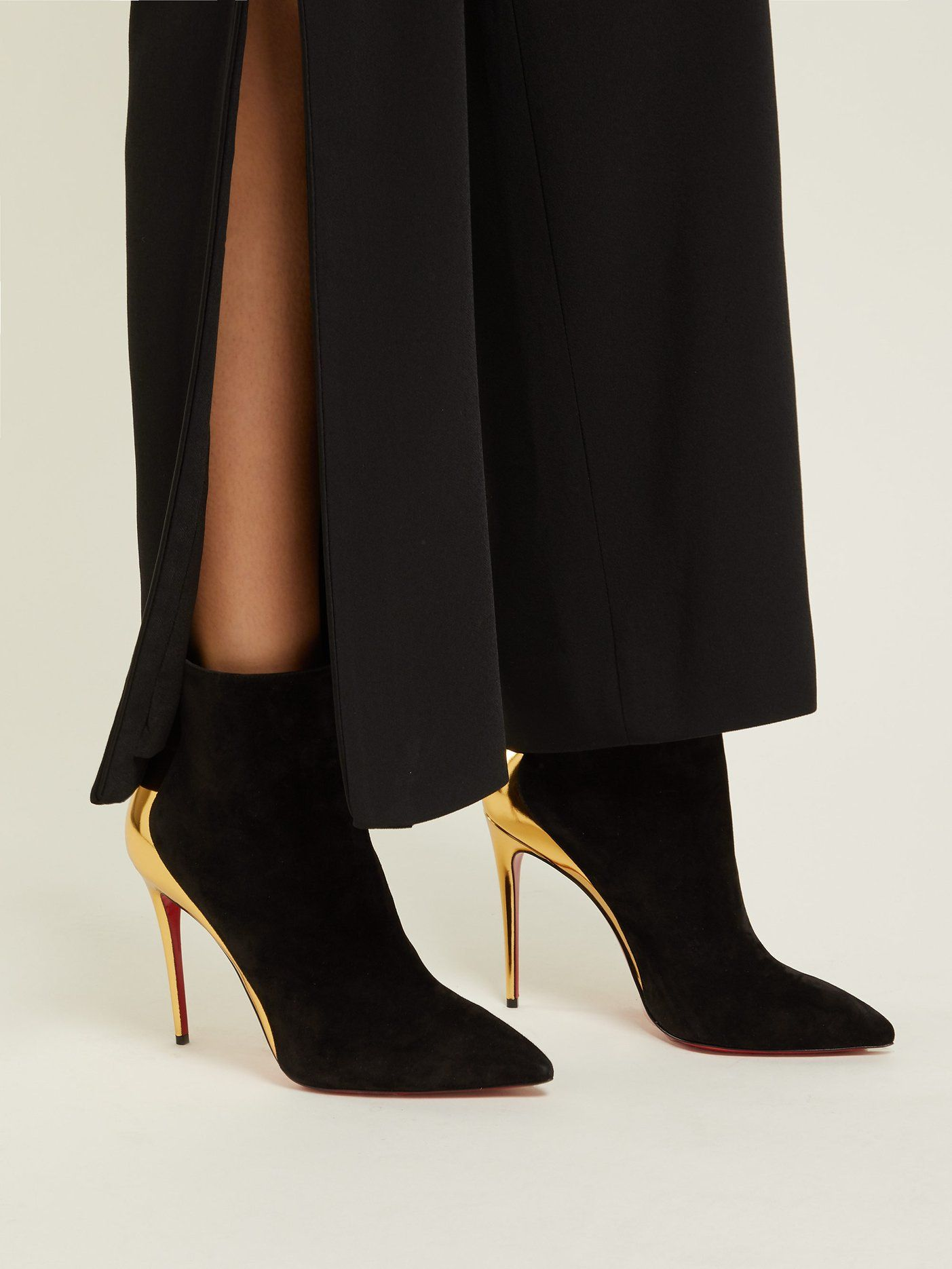 61790d921922 Delicotte 100 suede and leather ankle boots