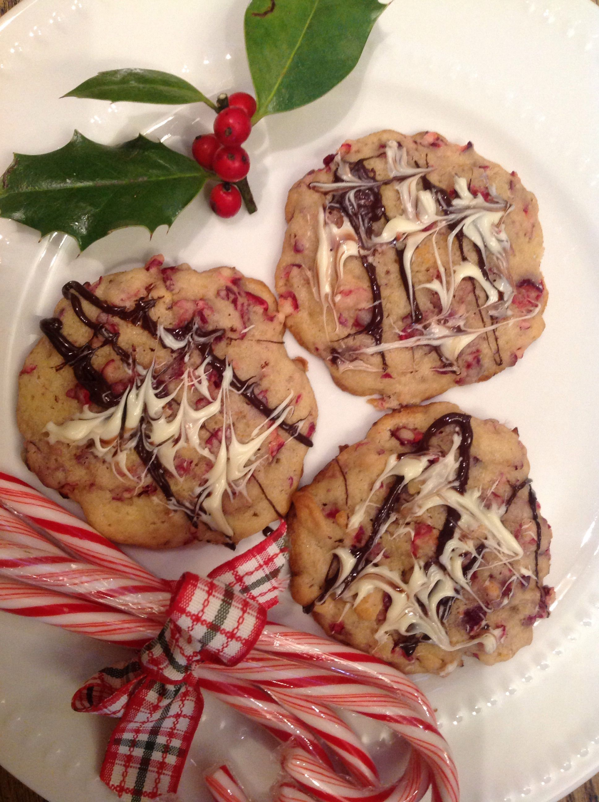Cranberry Almond Cookies with Double Chocolate Glaze-French Gardener Dishes Blog