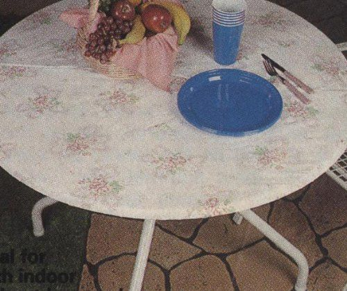 Amazon Com Fitted Vinyl Tablecloths 60 Inches Round Flannel