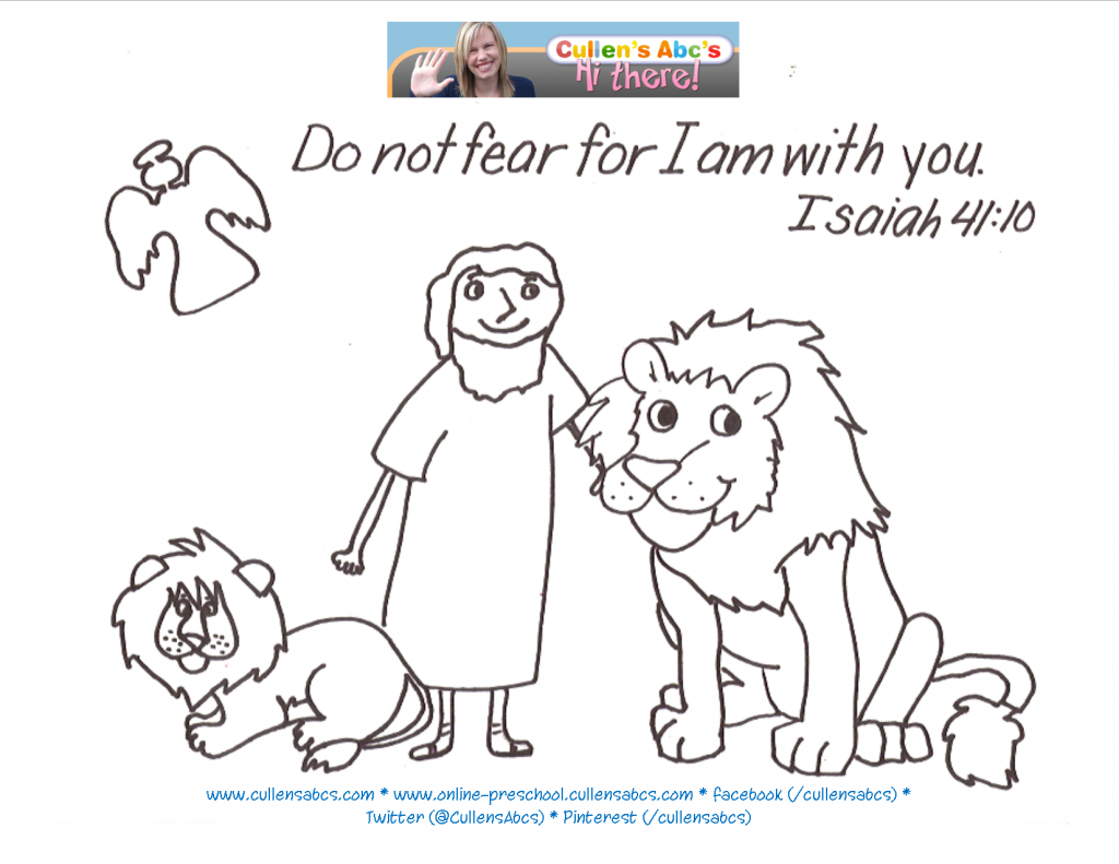 Daniel in the Lions Den Bible Memory Verse Memory Page. For a ...