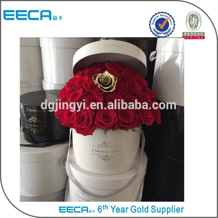 High quality paper hat box/ paper round flower gift packaging box