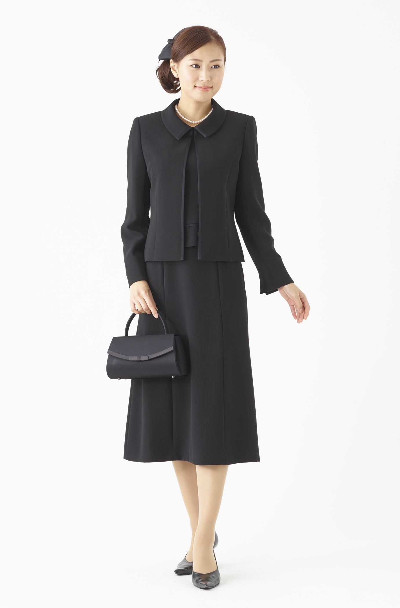 da5b8a96e17ba7 3点セット ブラックフォーマル スーツ 喪服 女性 02W51680|MONOIR 喪服・礼服・ブラック