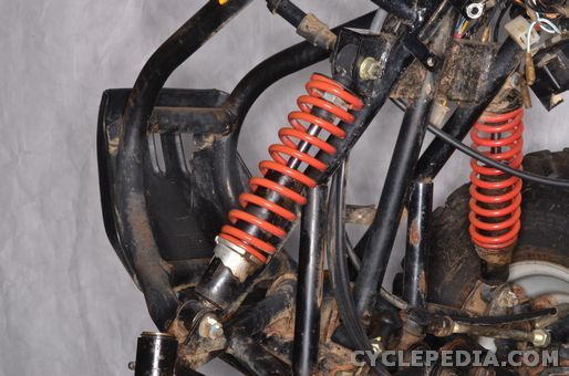 polaris scrambler 90 50 atv front suspension shock