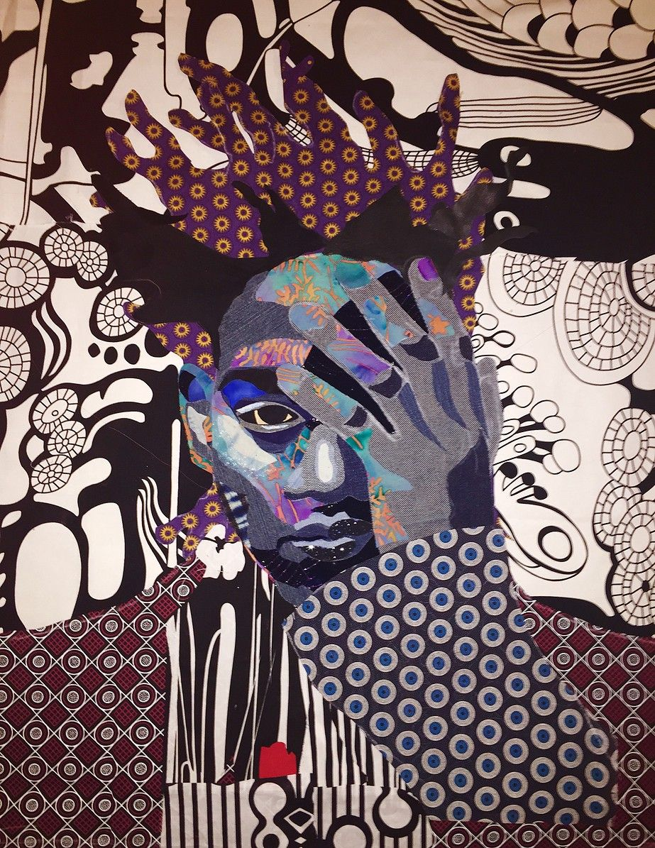 Faces in certain places art african american art