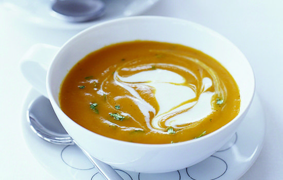 Carrot-Ginger Soup with Crème Fraiche