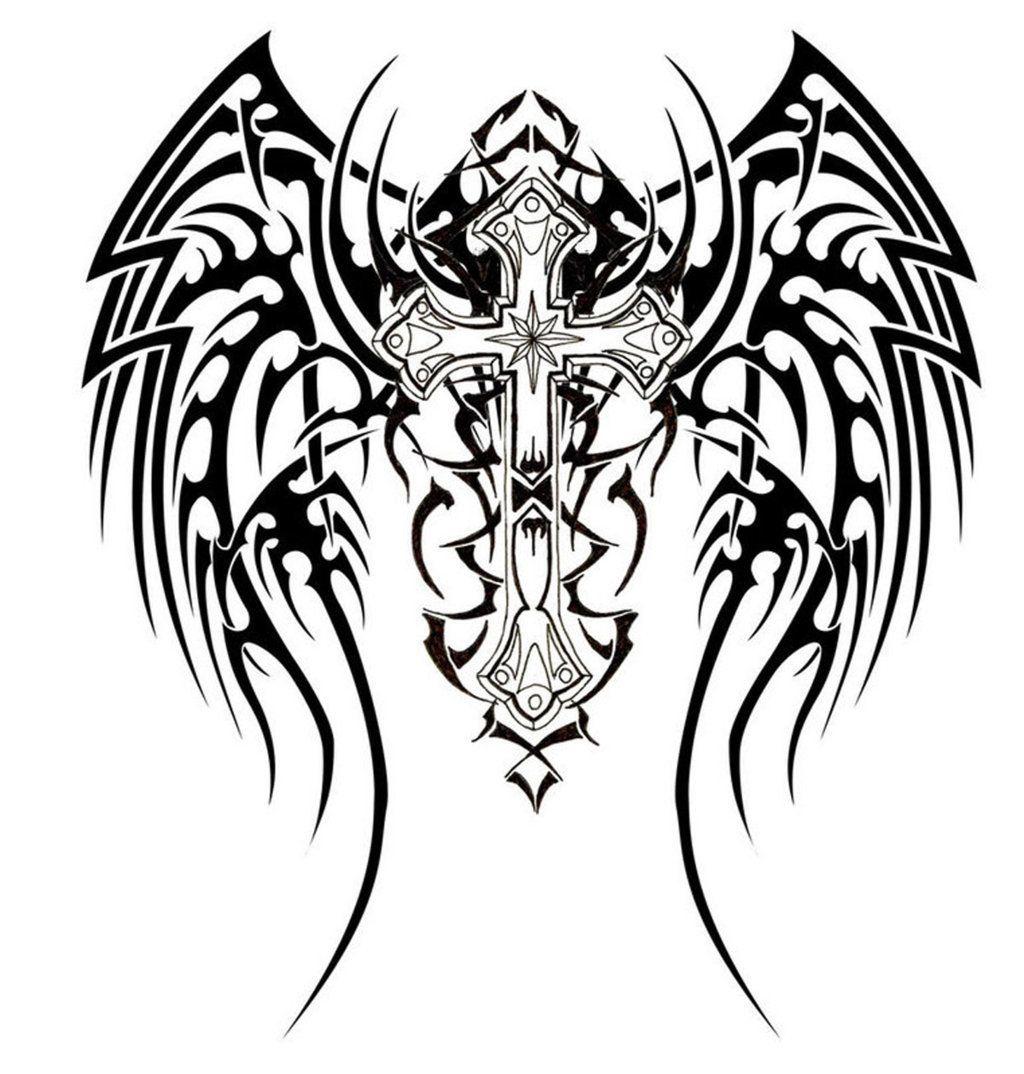 Pin Do A Jorge Tavares Em Cruzes Tatuagens Cruz Tribal