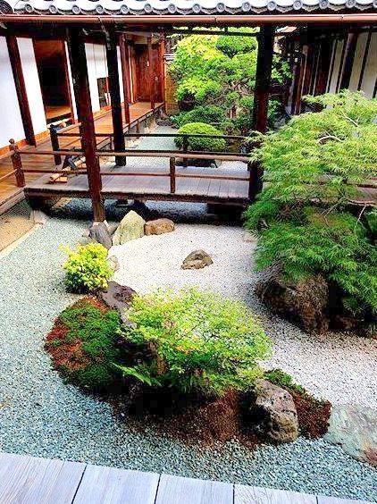 Kyoto - Konchi-in binnen zen tuin (sub-tempel van het Nanzen-ji - paisaje jardin