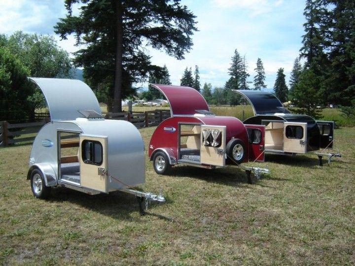 les caravanes teardrop import es des usa vont vous faire oublier les clich s du camping. Black Bedroom Furniture Sets. Home Design Ideas